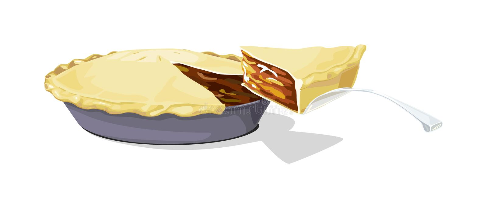 Download Apple Pie With A Slice Stock Photo - Image: 8492080