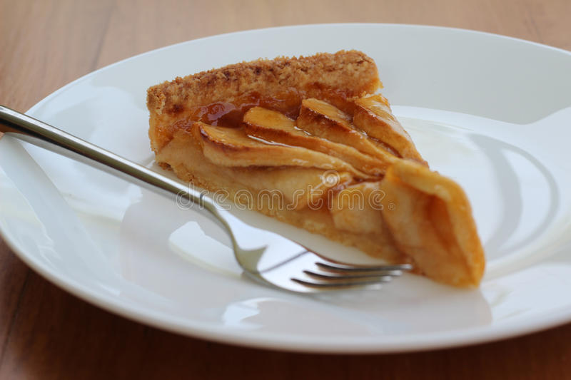 Download Apple pie stock image. Image of baked, single, fork, crust - 35617477