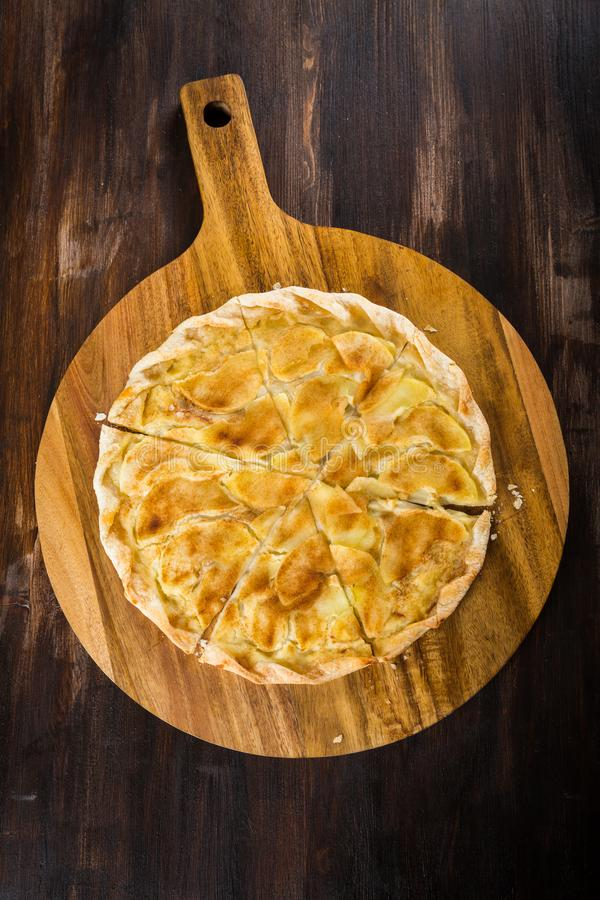 Apple pie for Thanksgiving stock photography