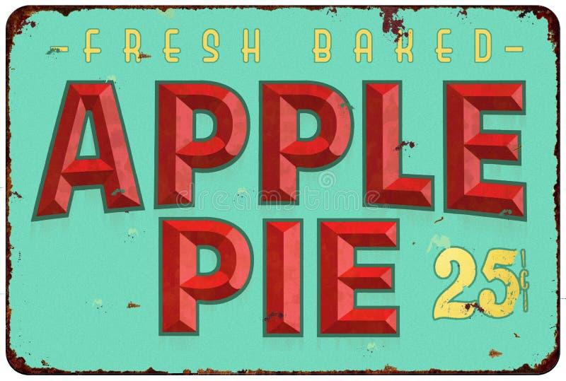 Apple Pie Tin Sign vector illustration