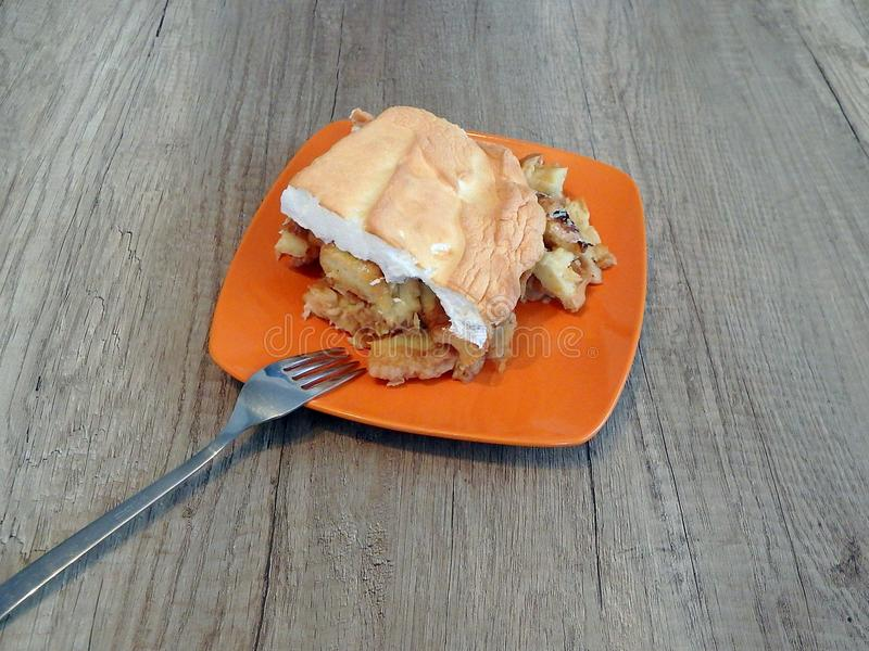 Apple pie Slovak food royalty free stock photos