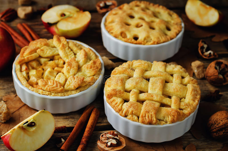 Download Apple Pies With Different Design Stock Photo - Image: 95037496