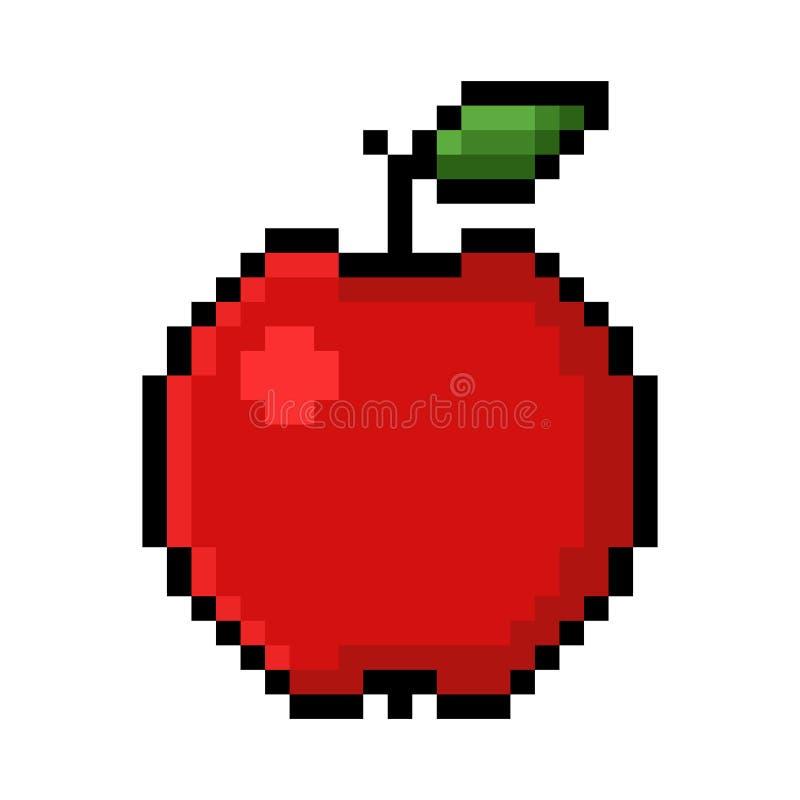 Apple-Pixelkunst stock abbildung