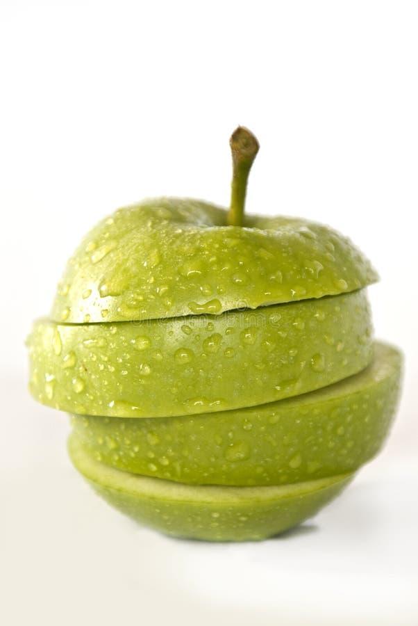 Apple-plakkenconcept stock afbeelding
