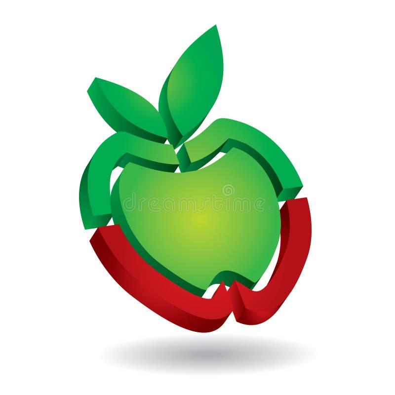 Apple – plantilla abstracta del icono ilustración del vector