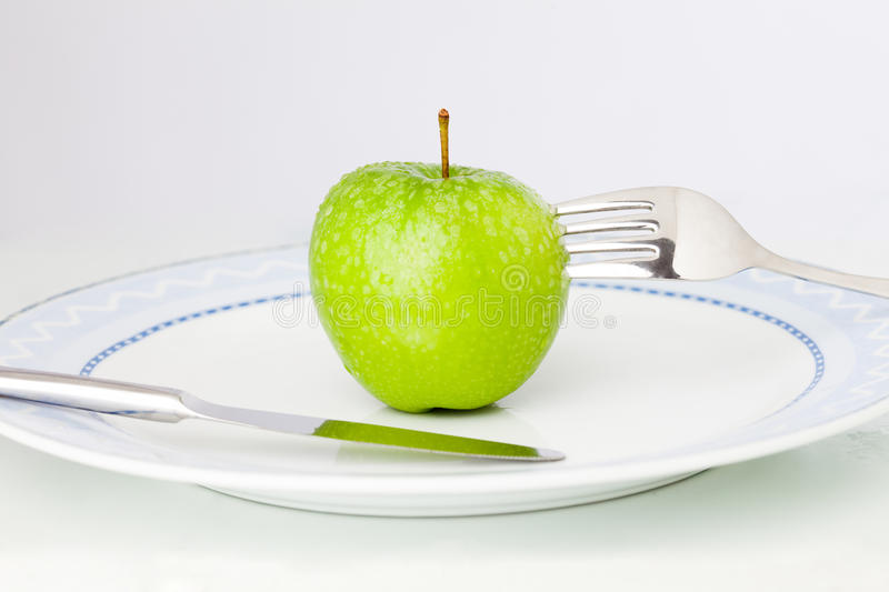 Download Apple on plate stock image. Image of organic, healthy - 20503065