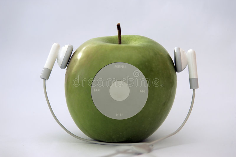 Apple player royalty free stock image