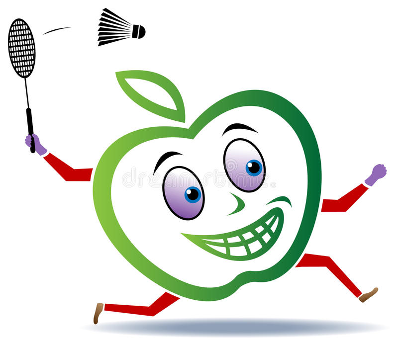 A apple playing vector illustration