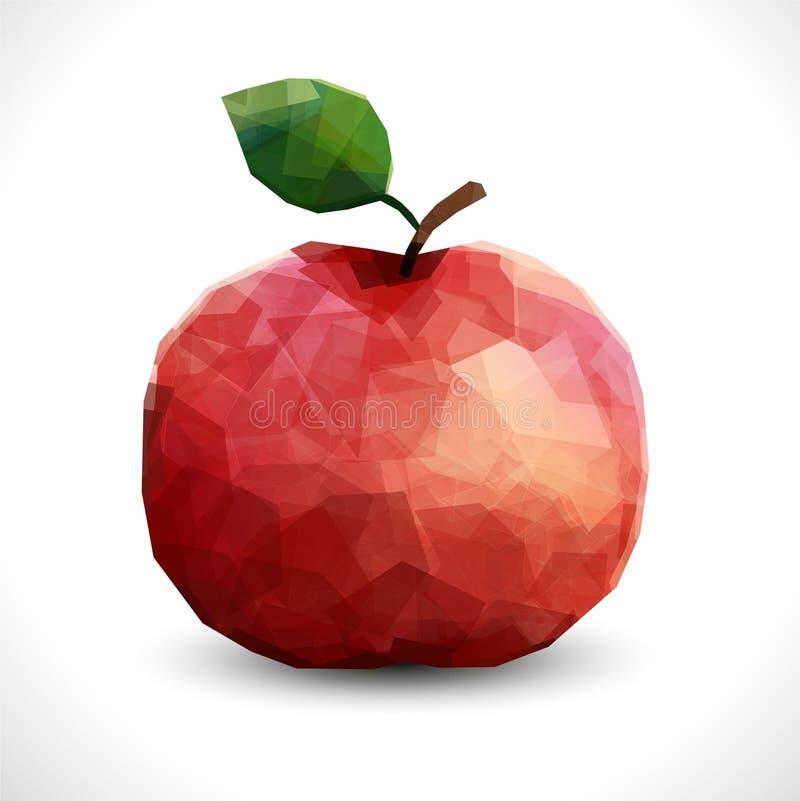 Apple poligonale insolito realistico Modello editabile di vettore moderno illustrazione vettoriale