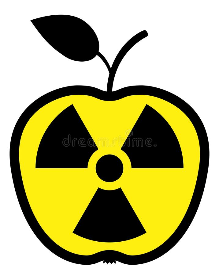 Download Apple Polluted By Radiation Stock Vector - Image: 14517597