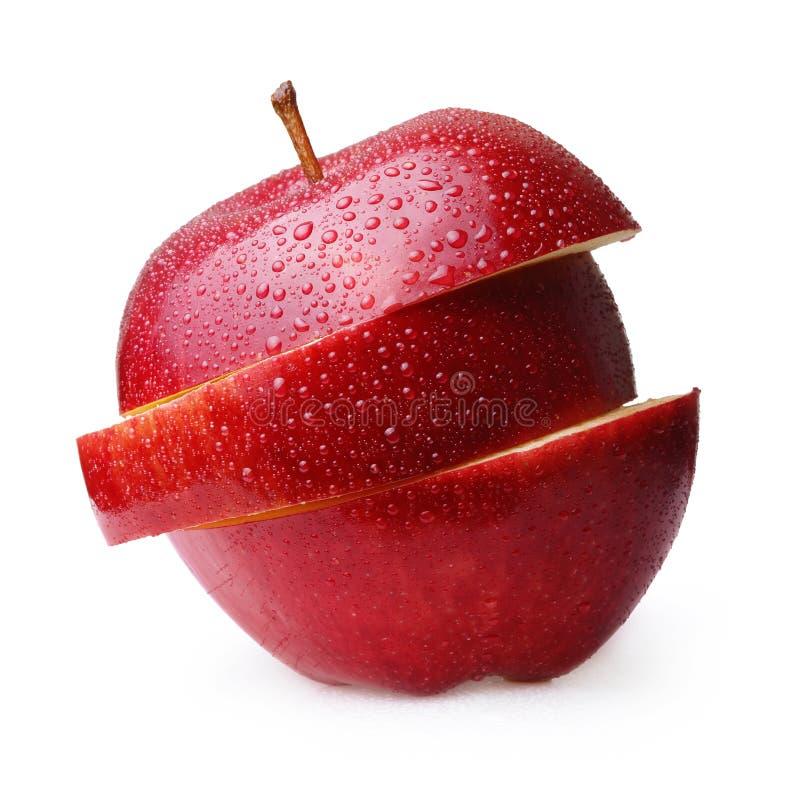 Apple portent des fruits d'isolement photos libres de droits