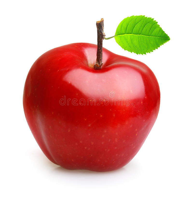 Apple portent des fruits d'isolement images stock