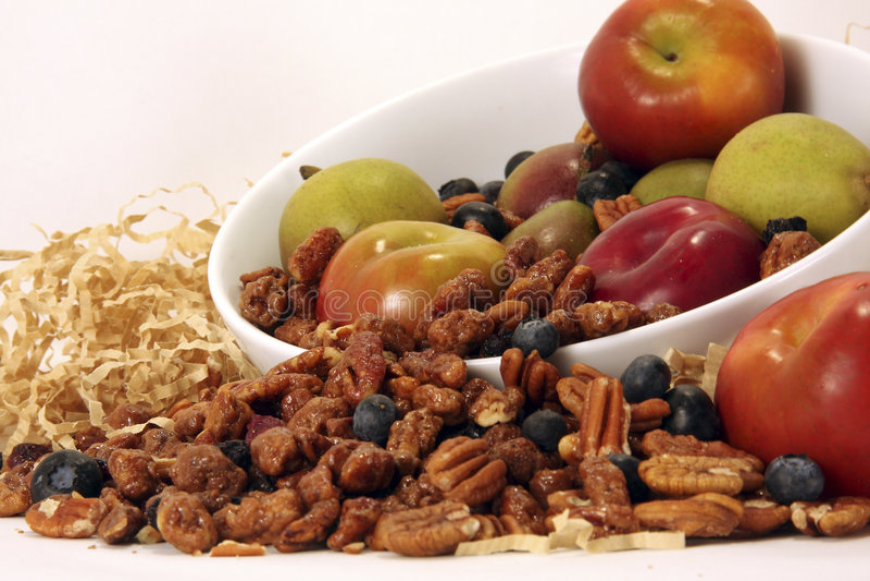 Apple and Praline Pecan Harvest stock photo