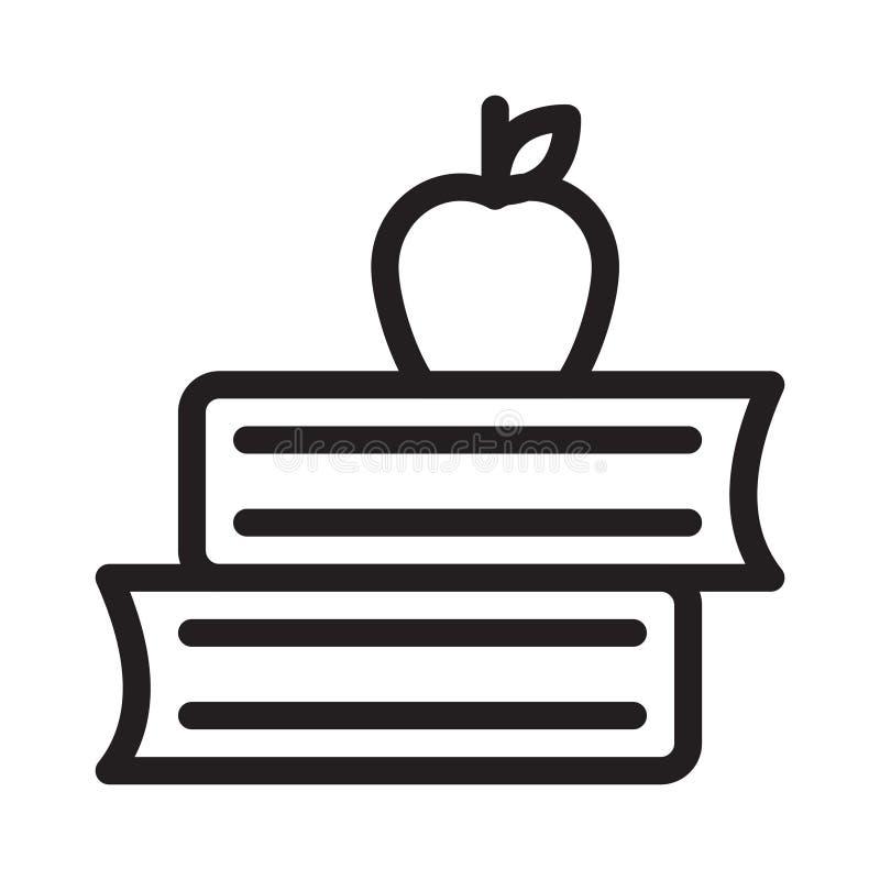 Apple prenota la linea sottile icona di vettore illustrazione vettoriale
