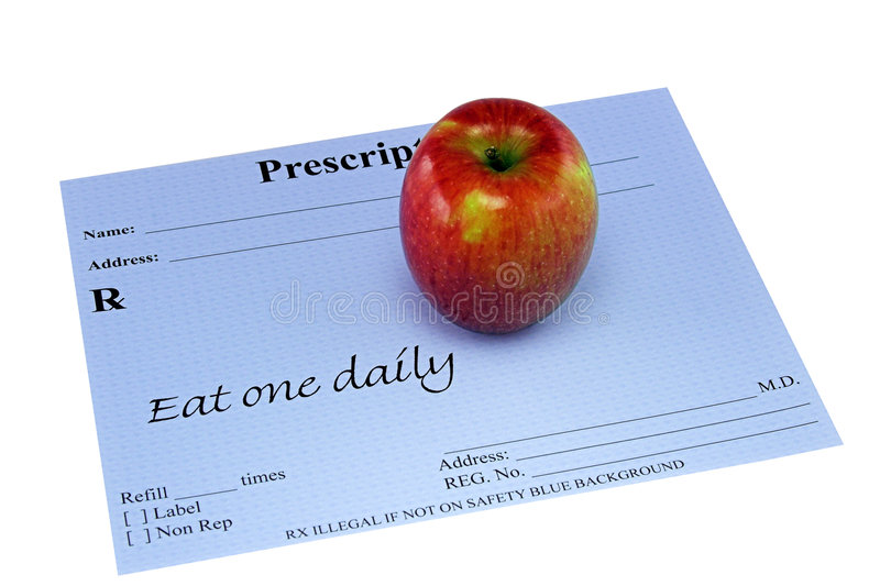 Download Apple On A Prescription stock photo. Image of recommend - 86104