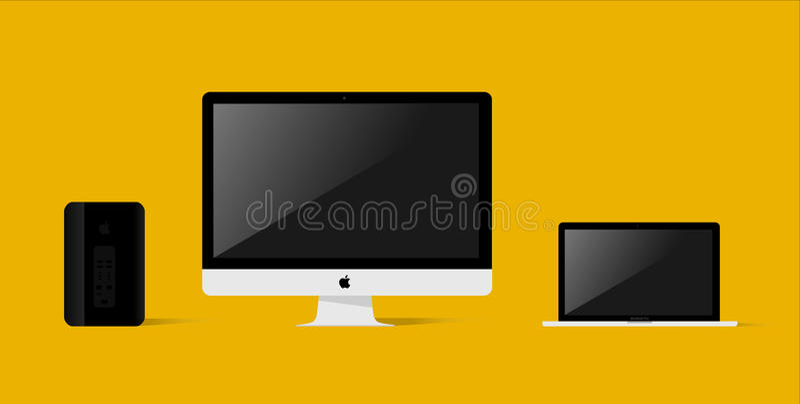 Apple-Produkte lizenzfreies stockbild