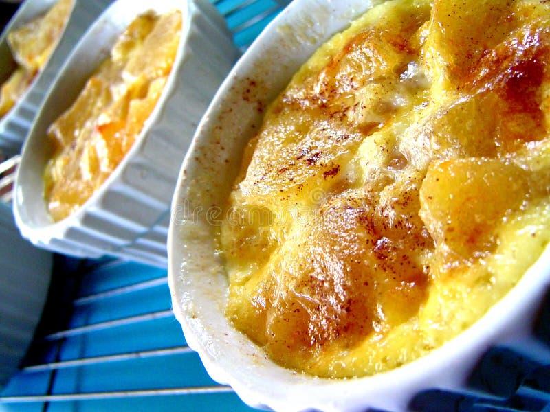 Apple Pudding stock image