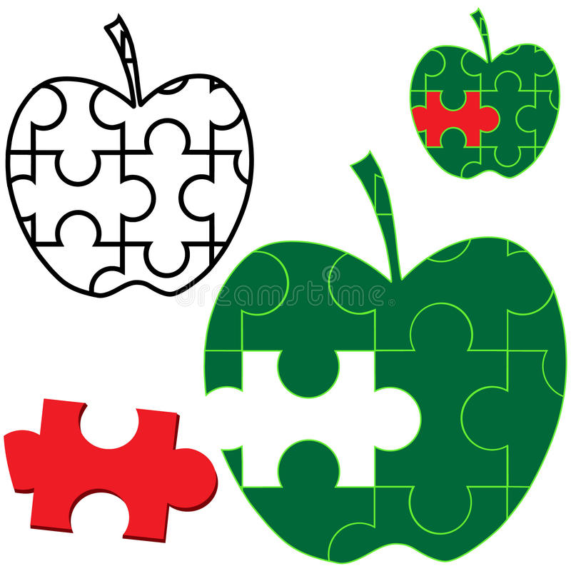 Free Apple Puzzle Stock Images - 28521514