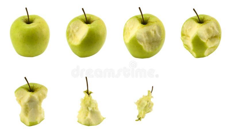 Apple que come o jogo fotos de stock