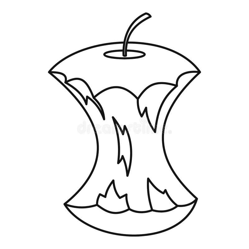 Apple quita el corazón al icono, estilo del esquema libre illustration