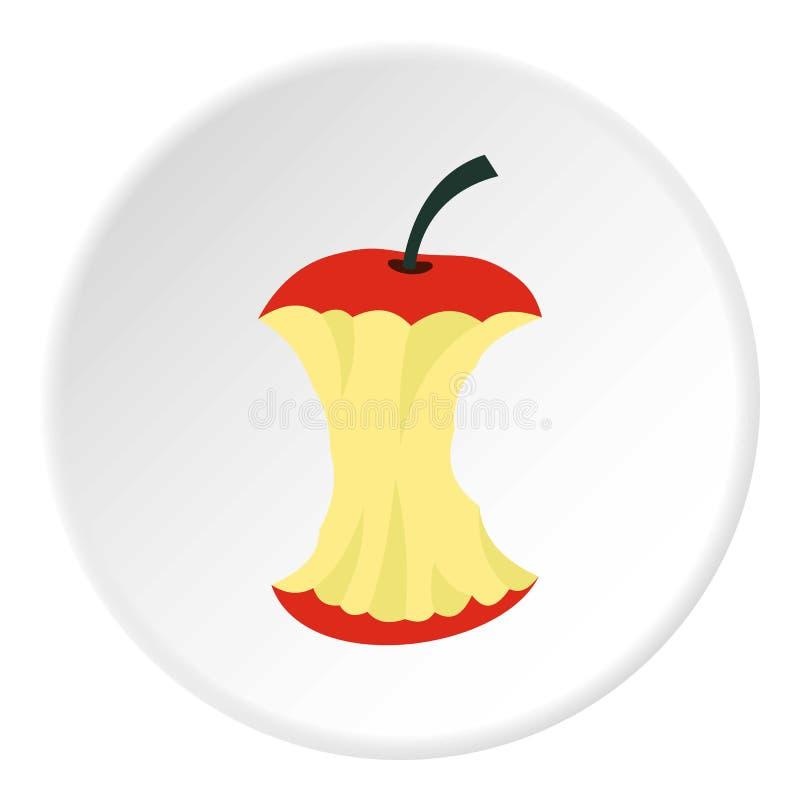Apple quita el corazón al icono, estilo plano ilustración del vector