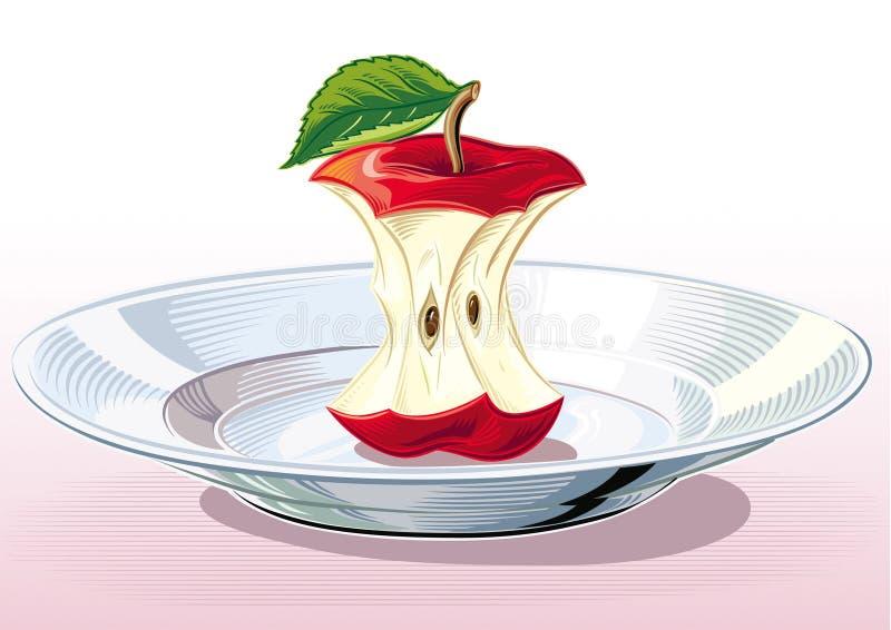 Apple quita el corazón en la placa libre illustration
