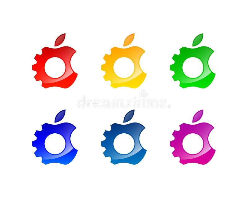 Apple réparent la conception de logo et d'icône photos libres de droits