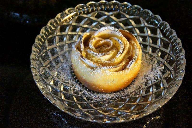 Apple różany kulebiak zdjęcie royalty free