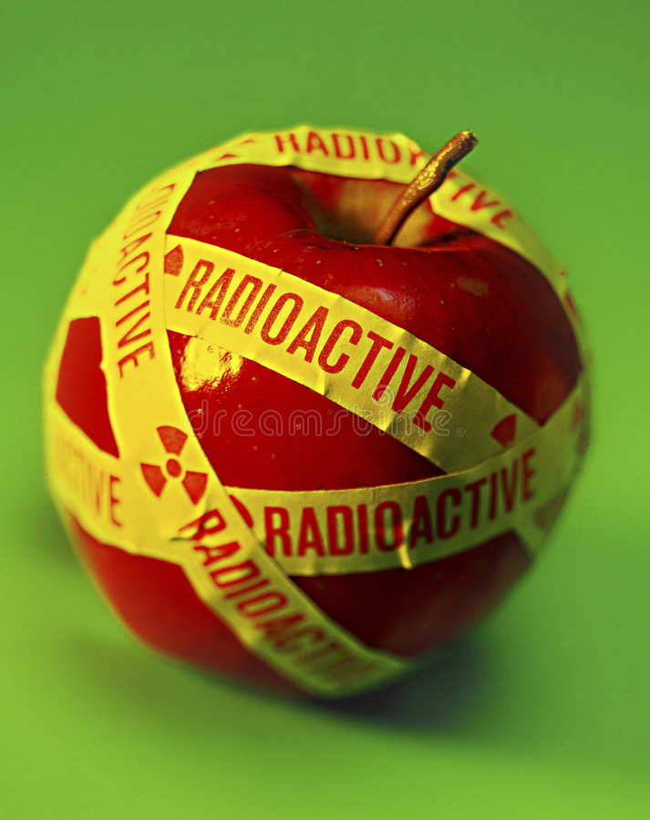 Apple radioattivo fotografia stock