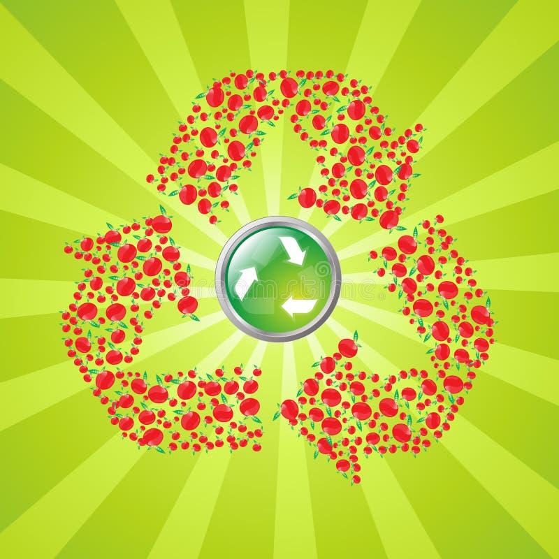 Apple recyling symbol royalty free illustration