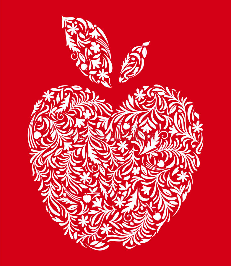 APPLE Red Stock Image