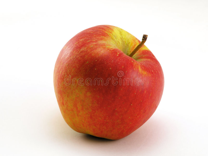 Apple red-yellow. Photo of red yellow apple stock photos