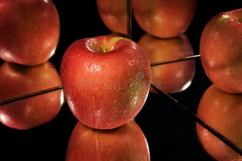 Apple, reflexão. foto de stock royalty free