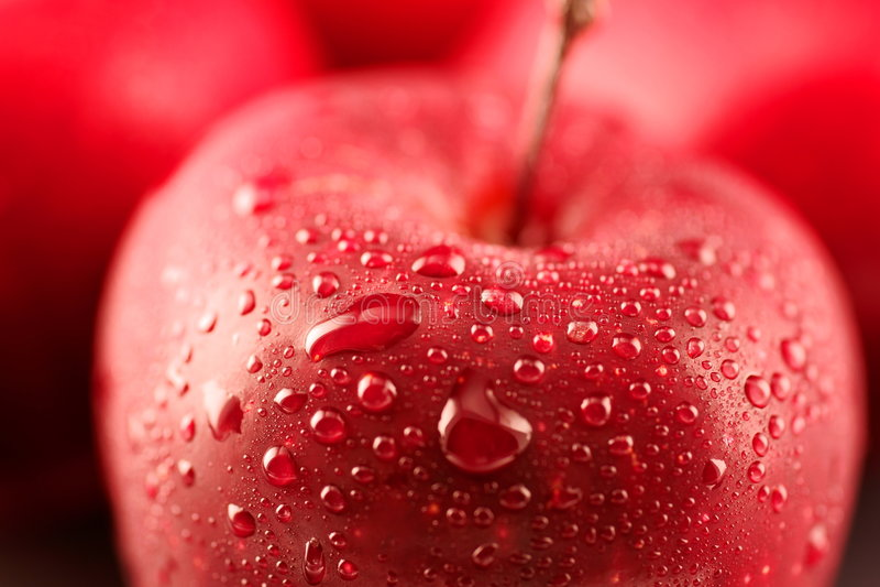 Apple rojo imagen de archivo