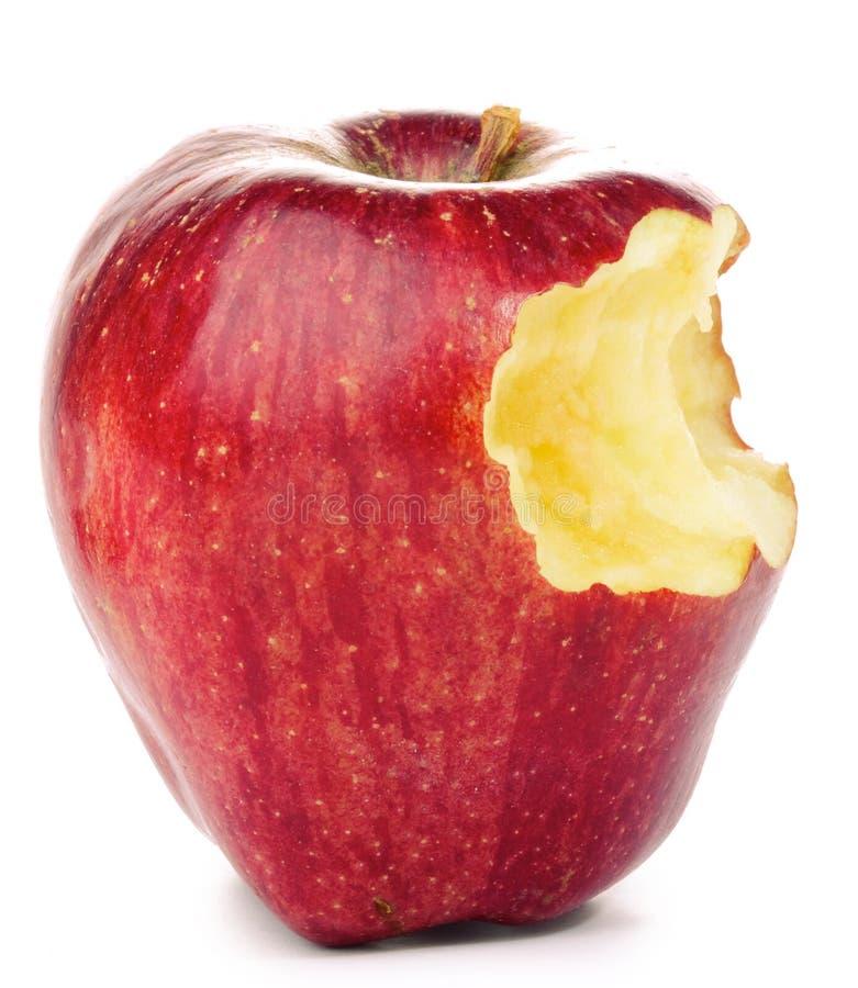 Apple rojo mordido imagen de archivo libre de regalías