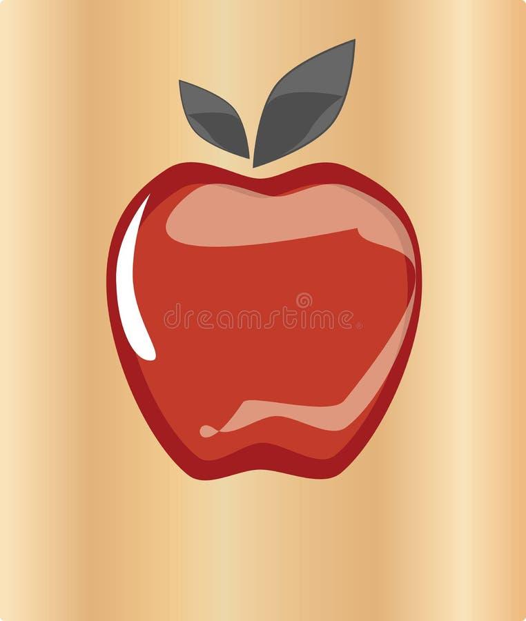 Apple rosso fotografia stock libera da diritti