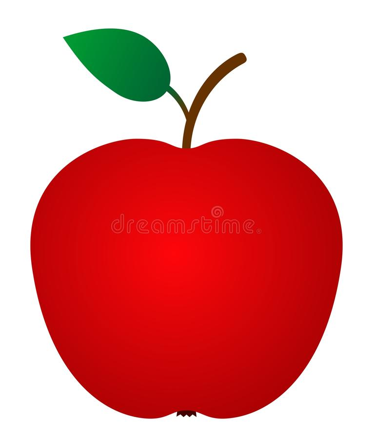 Apple rouge illustration libre de droits