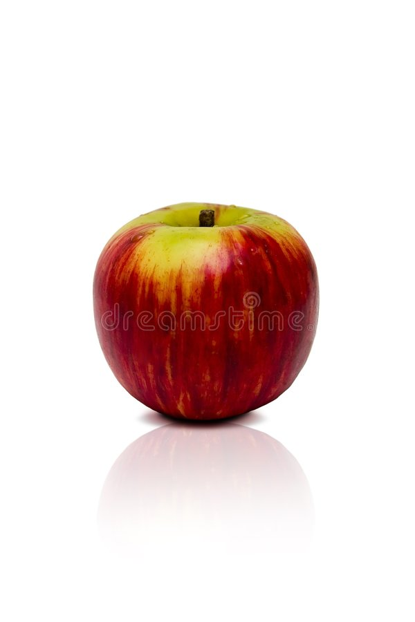 Apple rouge d'isolement image stock