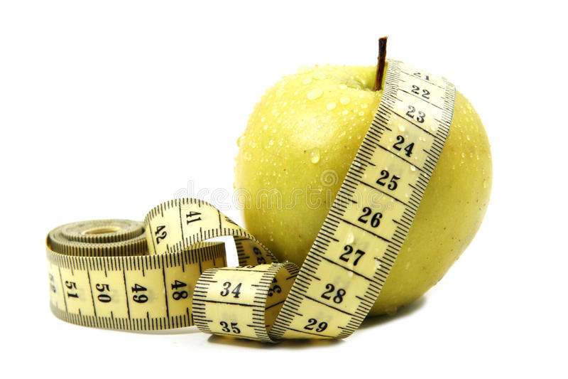 Apple with a ruler