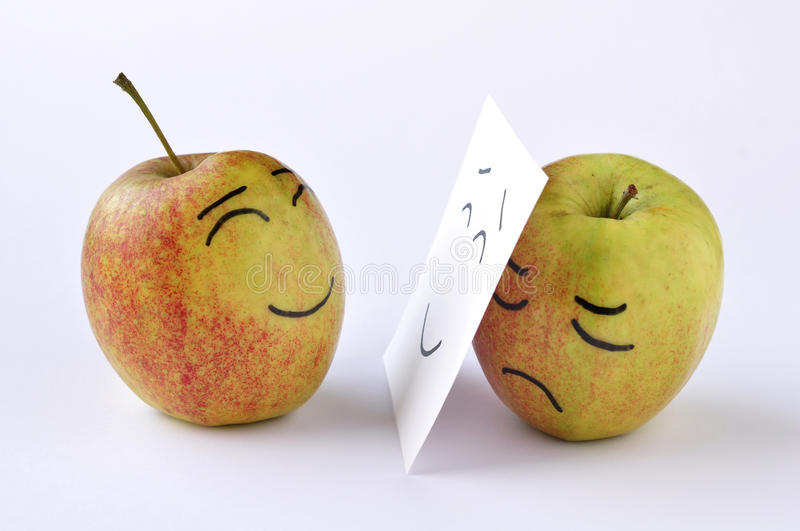 Download Apple sadness stock photo. Image of cognition, apple - 25389768