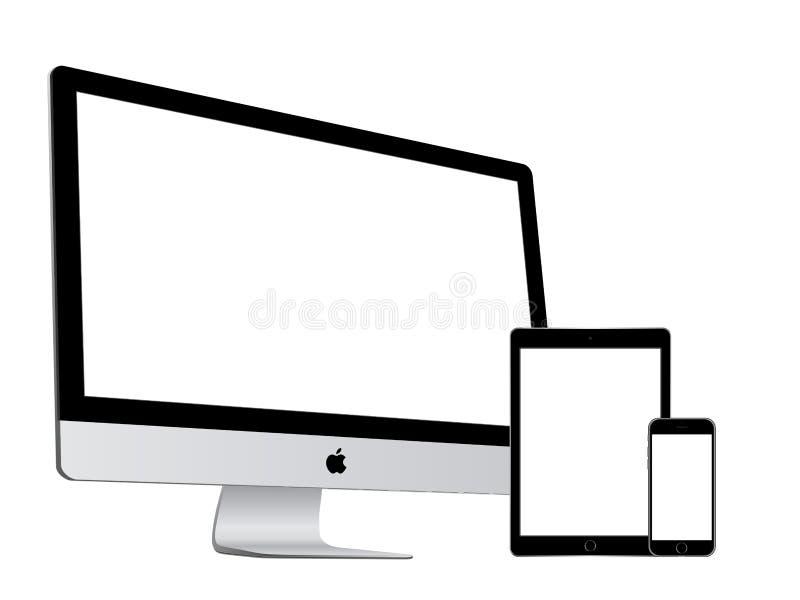 Apple samling stock illustrationer