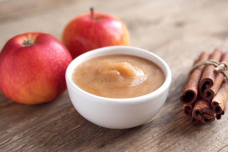 Apple sauce stock image