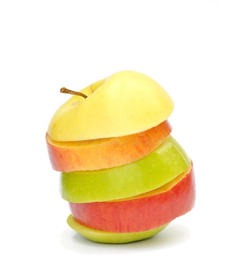 Apple-Scheiben stockfotos