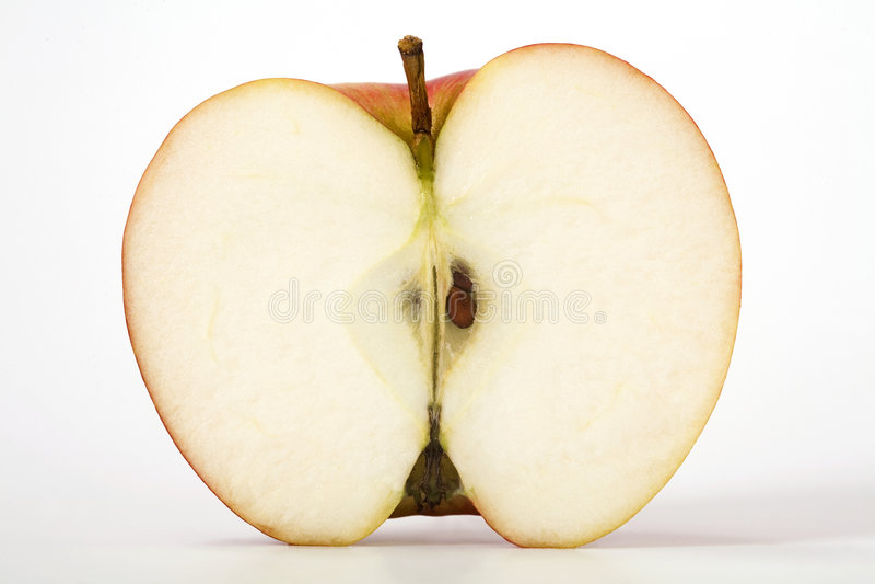 Apple schnitt beinahe ein stockfotos