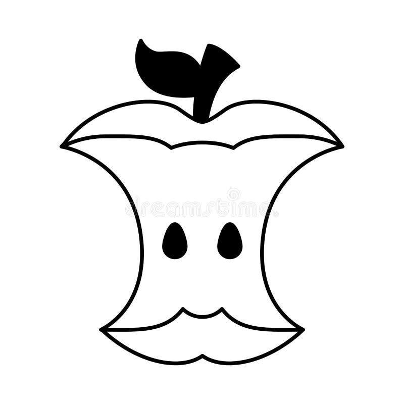Apple scrap icon. Vector illustration design royalty free illustration