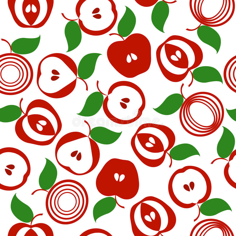Download Of An Apple Seamless Background Stock Vector - Image: 19164317