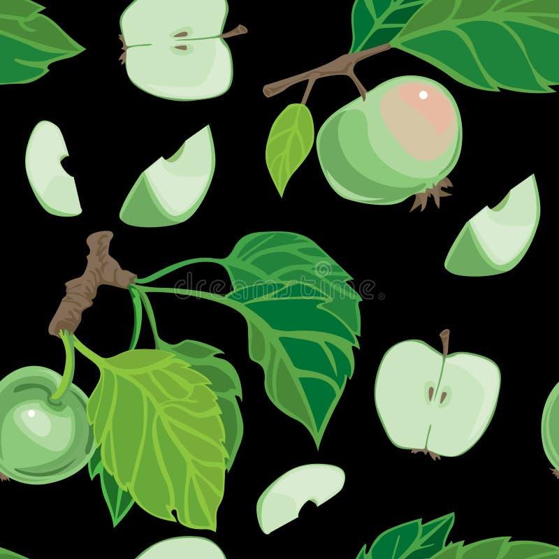 Apple seamless cartoon background stock images