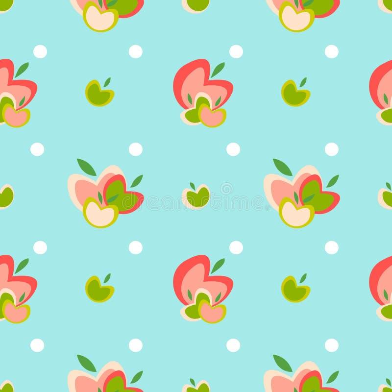 Apple seamless vector pattern stock illustration