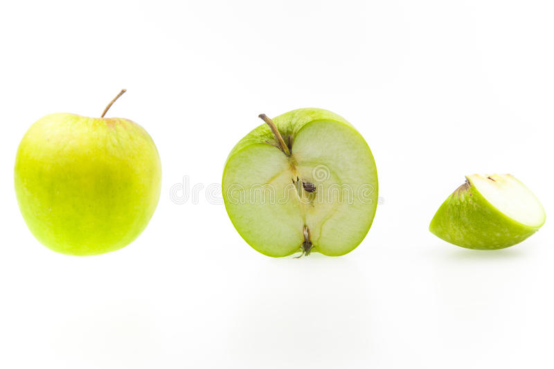 Apple sections stock photography