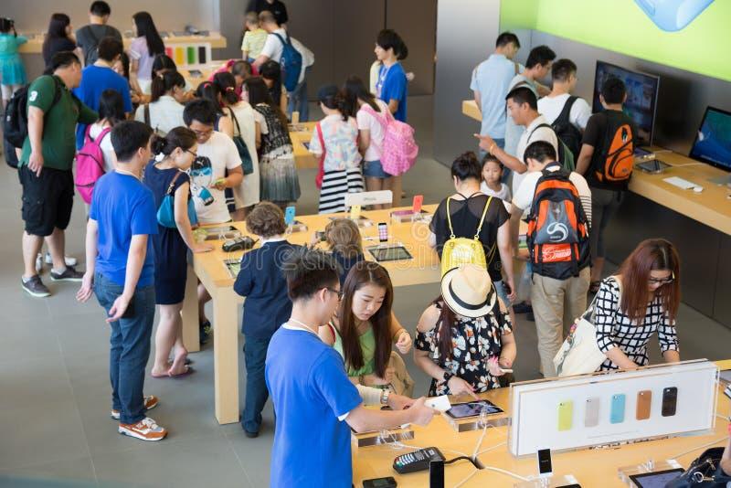 Apple shop in Hong Kong royalty free stock photo